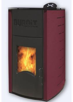 Пеллетный камин BURNIT PM COMFORT PLUS 13KW BORDEAUX